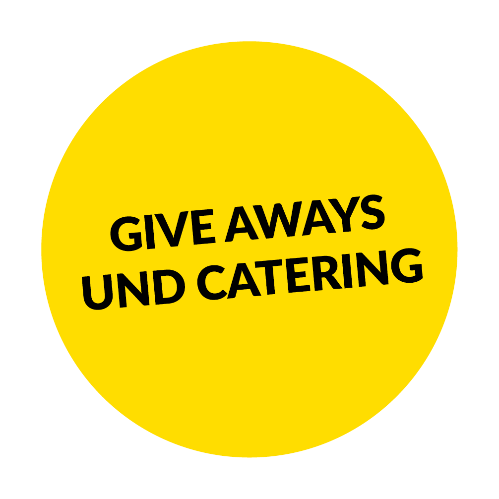 Give Aways und Catering